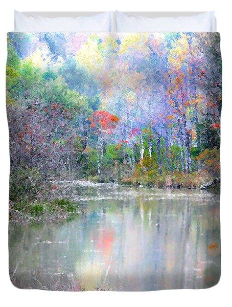 A Monet Autumn Duvet Cover by Mariarosa Rockefeller