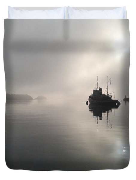 A Moody Morning Duvet Cover