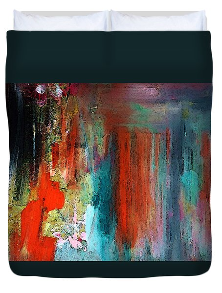 Duvet Cover featuring the painting A Mystery Disappearance by Lisa Kaiser