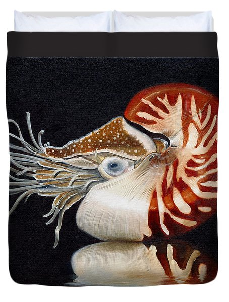 A Nautilus Study Duvet Cover by Phyllis Beiser
