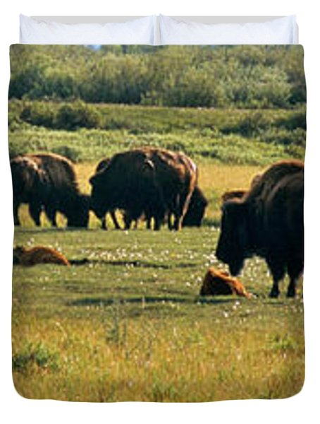 A New Beginning Grand Teton National Park Duvet Cover by Ed  Riche