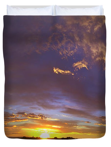 Duvet Cover featuring the photograph A New Dawn  by Steven Reed