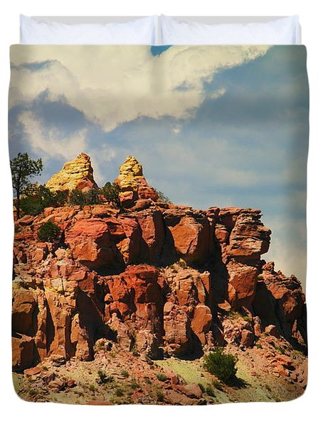 A New Mexico View Duvet Cover by Jeff Swan