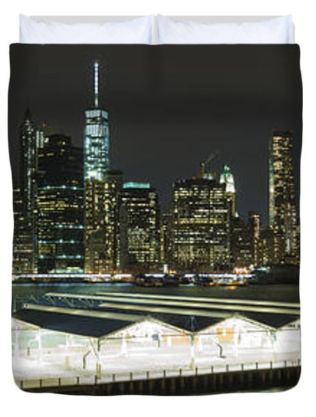 A New York City Night Duvet Cover