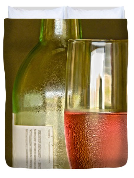 A Nice Glass Of Wine Duvet Cover