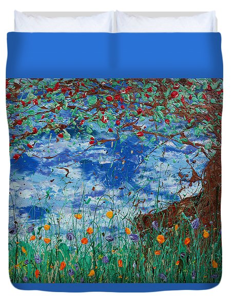 A Nice Place For A Nap Duvet Cover by Ric Bascobert