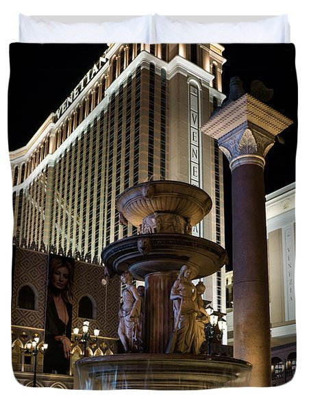 A Night At The Venetian Las Vegas Duvet Cover