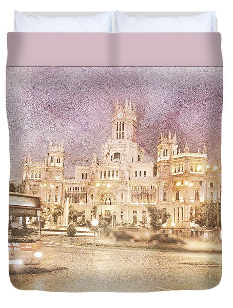 A Night In Madrid  Duvet Cover by Connie Handscomb