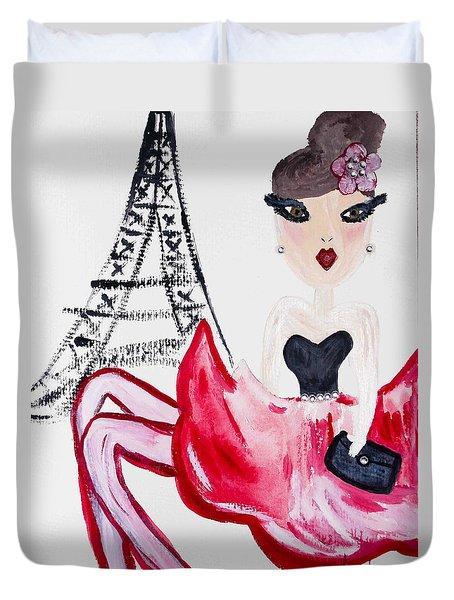 A Night In Paris Duvet Cover