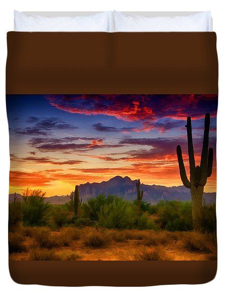A Painted Desert  Duvet Cover by Saija  Lehtonen