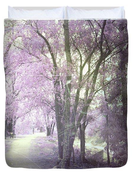 A Pastel Past Duvet Cover by Tara Turner