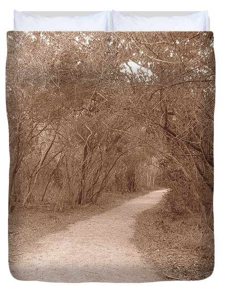Duvet Cover featuring the photograph A Path In Life by Beth Vincent