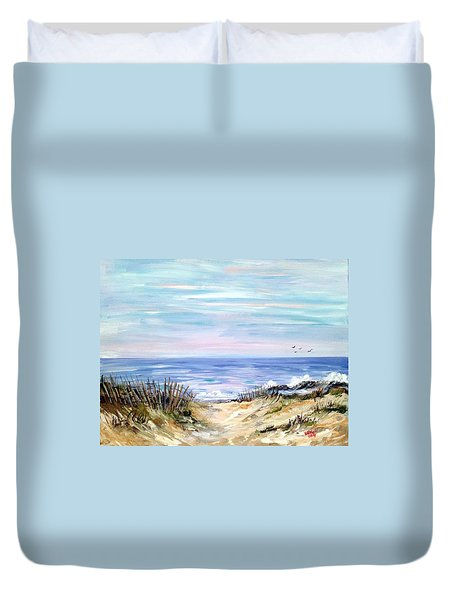 Where The Waves Are Duvet Cover