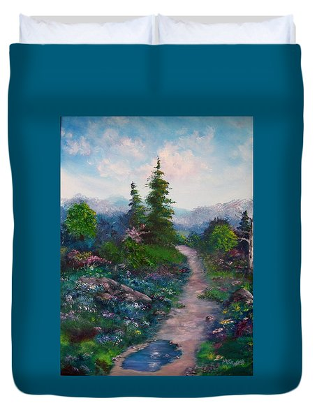 A Path Unknown Duvet Cover by Megan Walsh