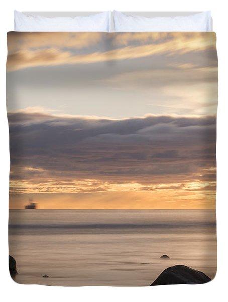 A Peaceful Sunrise Duvet Cover
