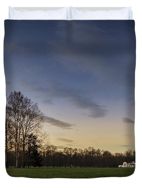 A Peaceful Sunset Duvet Cover