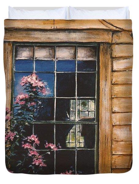 A Peek Through The Window Duvet Cover