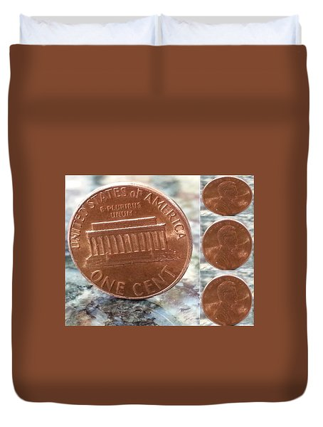 A Penny For Your Thoughts Duvet Cover by Emmy Vickers