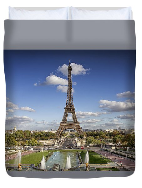 A Perfect Day In Paris Duvet Cover