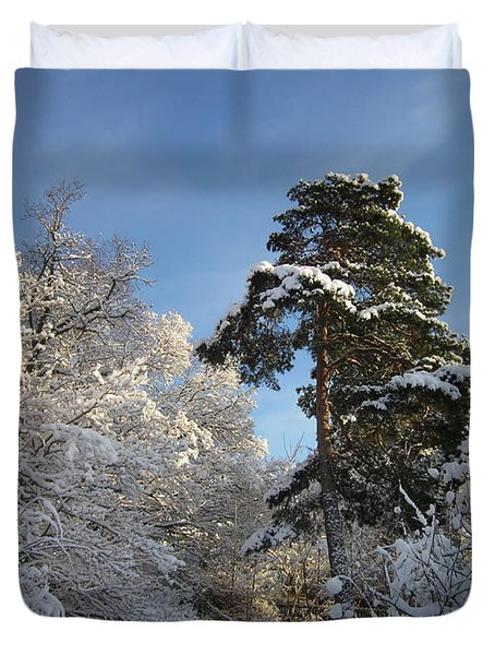A Perfect Winterday Duvet Cover