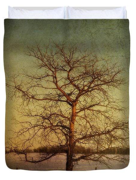 A Pictorialist Photograph Of A Lone Duvet Cover by Roberta Murray