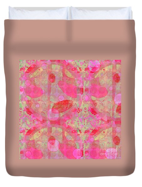 A Pink Universe Duvet Cover