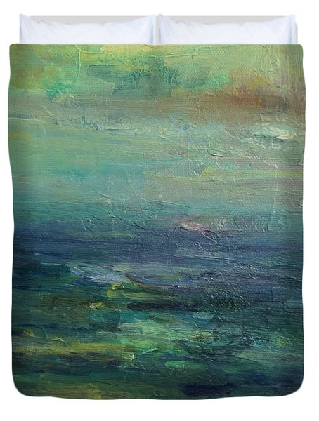 A Place For Peace Duvet Cover by Mary Wolf