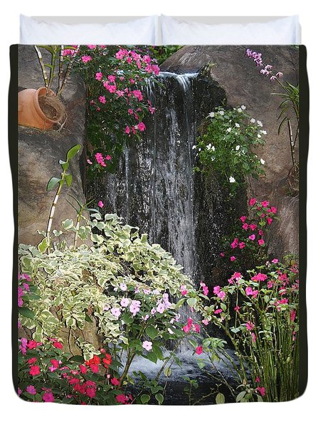 Duvet Cover featuring the photograph A Place Of Serenity by Bruce Bley