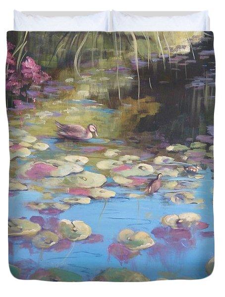 A Pond Reflection Duvet Cover
