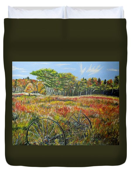 A Prairie Treasure Duvet Cover by Marilyn  McNish