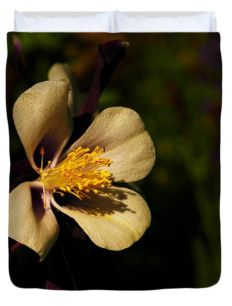 A Pretty Flower In The Sun Duvet Cover by Jeff Swan