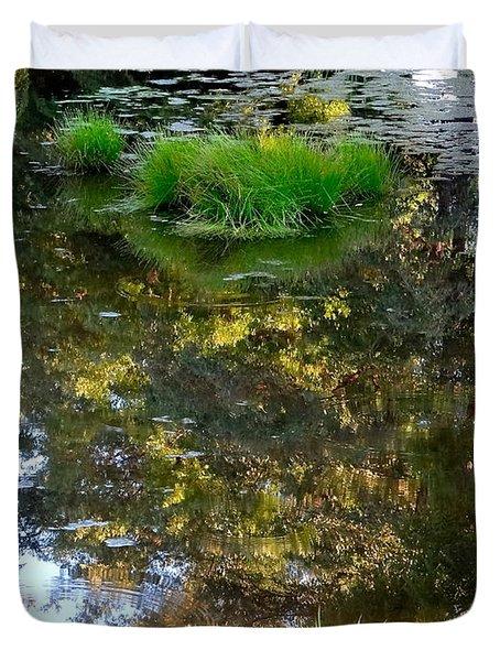 A Quiet Little Pond Duvet Cover by Ira Shander