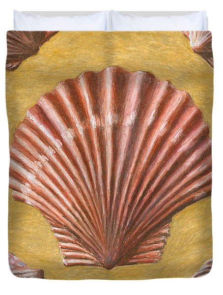 A Quincunx Of Scallop Shells Duvet Cover