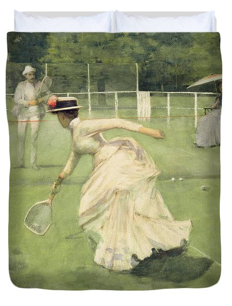 A Rally, 1885 Duvet Cover