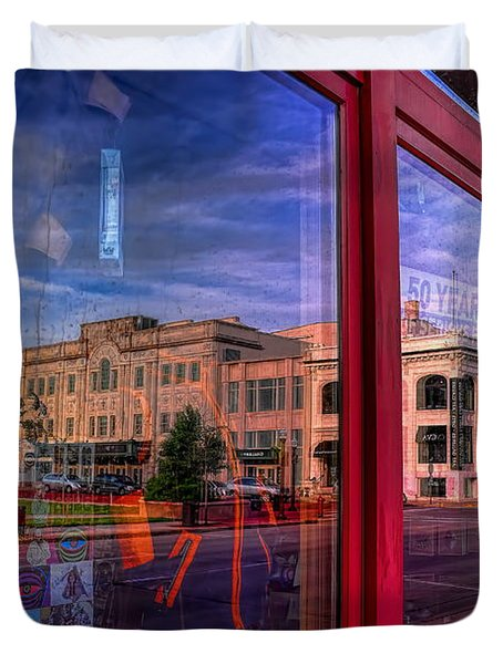 A Reflection Of Wausau's Grand Theater Duvet Cover