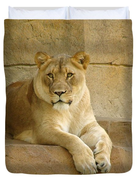 A Regal Presence Duvet Cover