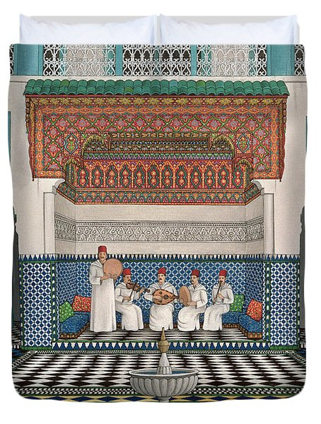 A Riad In Marrakech, 1992 Acrylic On Canvas Duvet Cover