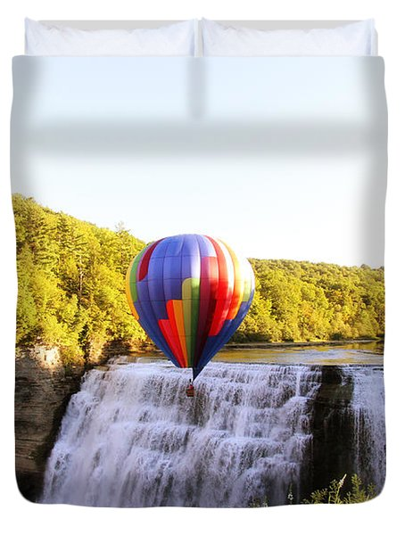 A Ride Over The Falls Duvet Cover