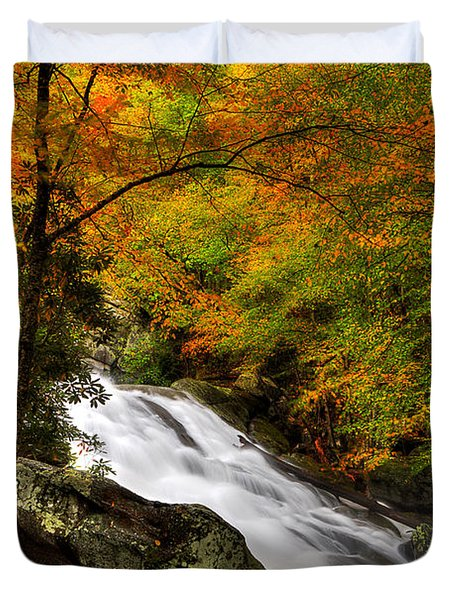 A River Runs Through It Duvet Cover by Michael Eingle