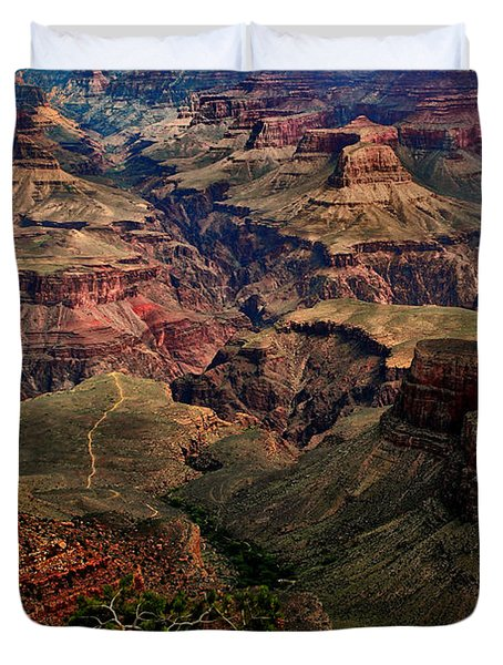 A River Runs Through It-the Grand Canyon Duvet Cover