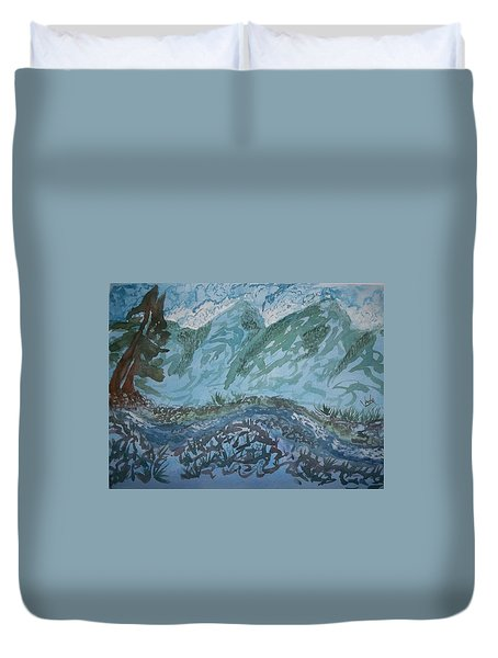 A River Runs Through It Duvet Cover