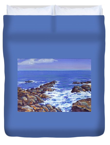 A Rocky Coast Duvet Cover