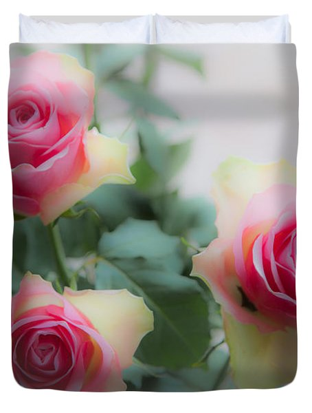 A Rose And A Rose And A Rose Duvet Cover