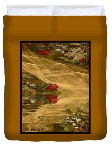A Rose Bud Stream Duvet Cover