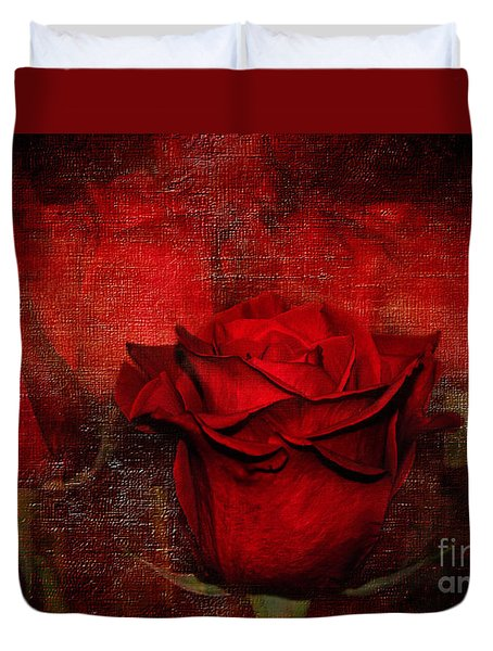 A Rose For You Duvet Cover by Kaye Menner