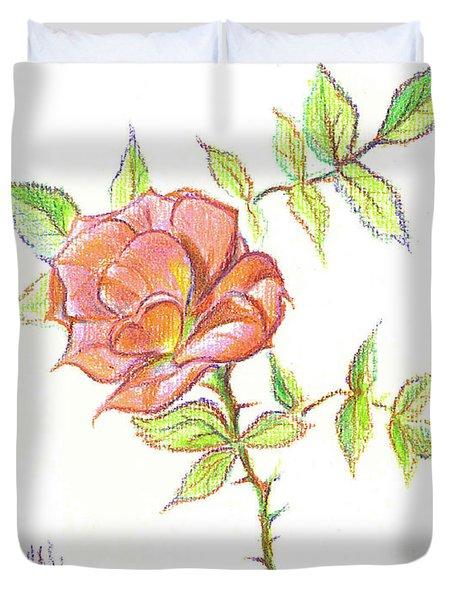 A Rose In Brigadoon Duvet Cover