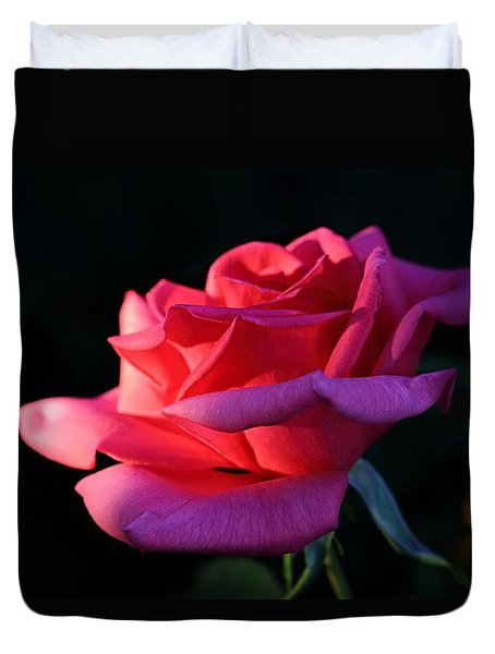 Duvet Cover featuring the photograph A Rose Is A Rose by David Andersen