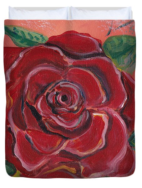 A Rose Is A Rose Duvet Cover by John Keaton