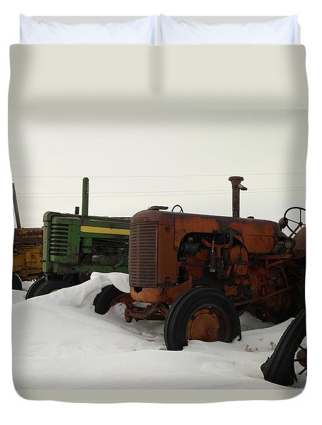 A Row Of Relics Duvet Cover by Jeff Swan