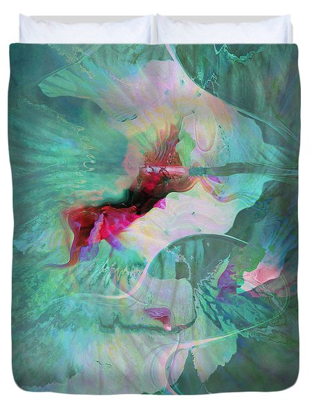 A Sacred Place - Abstract Art Duvet Cover by Jaison Cianelli